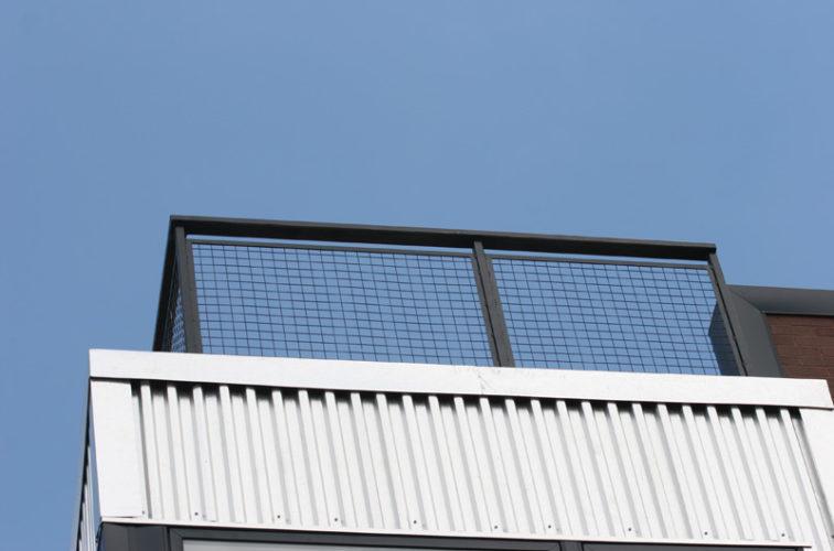 AmeriFence Corporation Wichita - Custom Railing, 2206 Railing with mesh infill
