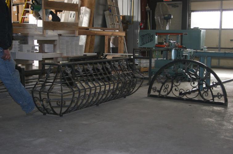 AmeriFence Corporation Wichita - Custom Railing, 2217 Balcony Railing In Fabrication