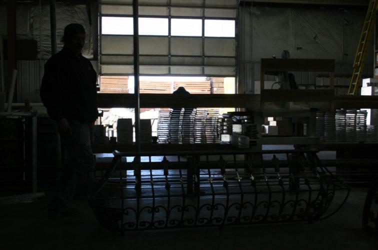 AmeriFence Corporation Wichita - Custom Railing, 2218 Balcony Railing in Fabrication