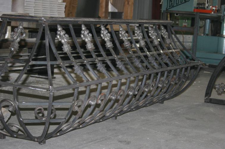 AmeriFence Corporation Wichita - Custom Railing, 2219 Balcony Railing in Fabrication