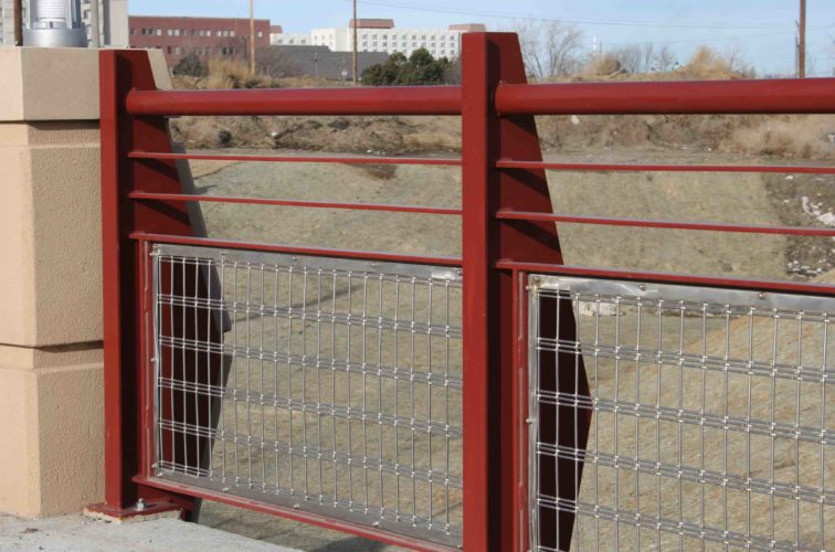 AmeriFence Corporation Wichita - Custom Railing, 2224 Stainless Steel In-fill Railing
