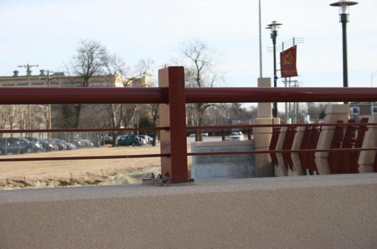 AmeriFence Corporation Wichita - Custom Railing, 2225 Knee Wall Railing