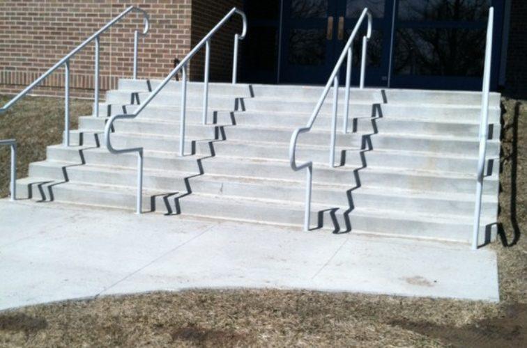 AmeriFence Corporation Wichita - Custom Railing, Custom Galvanized Handrail 3 - AFC - IA