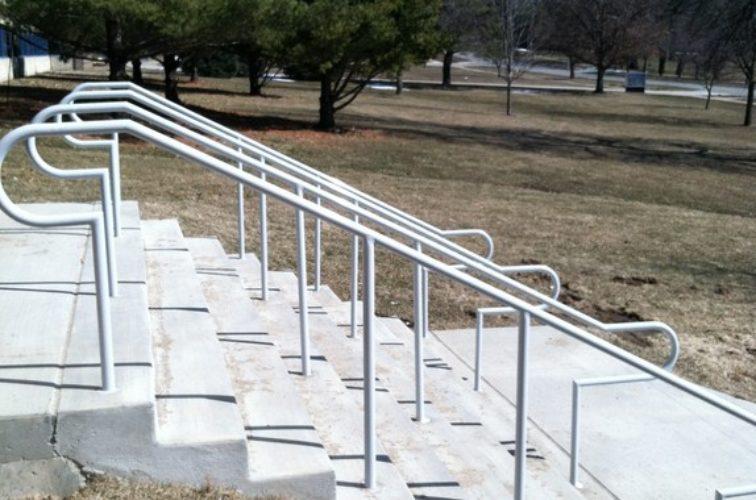 AmeriFence Corporation Wichita - Custom Railing, Custom Galvanized Handrail 4 - AFC - IA