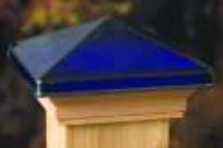 AmeriFence Corporation Wichita - Accessories, Decorative Glass Cedar Fence Post Cap