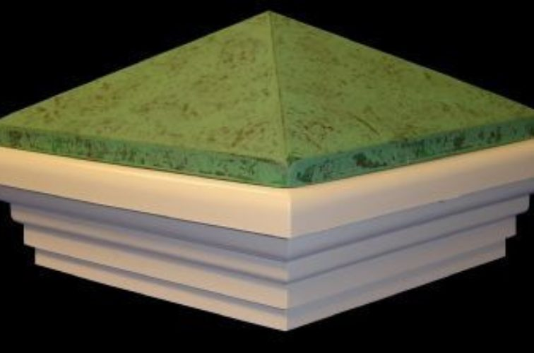 AmeriFence Corporation Wichita - Accessories, Green Patina PVC Vinyl Fence Post Caps