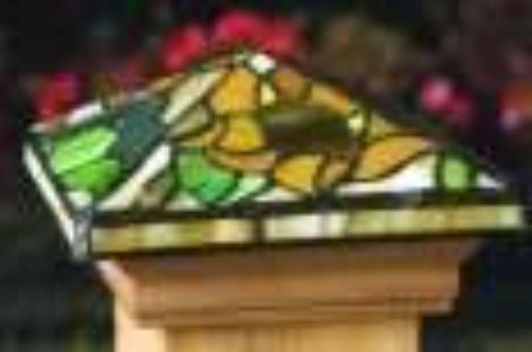 AmeriFence Corporation Wichita - Accessories, Tiffany style Cedar wood Fence Post Cap